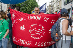 National Union of Teachers Banner Royalty Free Stock Images