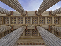 National university of Athens Greece, ceiling of the entrance Stock Photos