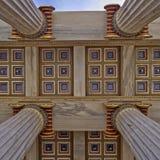 National university of Athens, Greece, detail Royalty Free Stock Photo