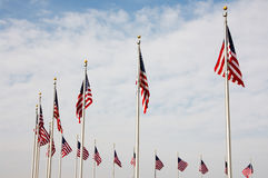 National US flags Royalty Free Stock Photography