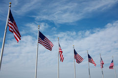 National US flags Stock Photo
