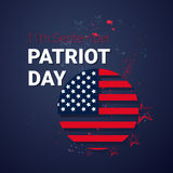 National USA Patriot Day United States Flag Banner Royalty Free Stock Photo