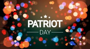 National USA Patriot Day United States Holiday Fireworks Banner Stock Images