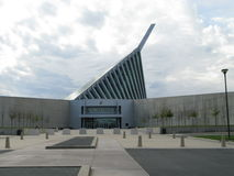 National USMC Museum. Front of the National United States Marine Corps Museum in Virginia Royalty Free Stock Image