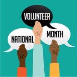 National volunteer month design. Stock Photography