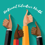 National volunteer month design. Stock Photos