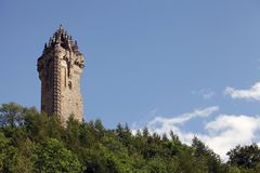 The National Wallace Monument. On the summit of Abbey Craig, Scotland, UK Stock Image