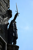 William Wallace Statue. The National Wallace Monument generally known as the Wallace Monument is a tower standing on the summit of Abbey Craig, a hilltop Royalty Free Stock Images
