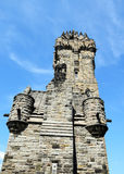 The National Wallace Monument. Generally known as the Wallace Monument is a tower standing on the summit of Abbey Craig, a hilltop overlooking Stirling in Royalty Free Stock Images