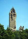 The National Wallace Monument. Generally known as the Wallace Monument is a tower standing on the summit of Abbey Craig, a hilltop overlooking Stirling in Royalty Free Stock Image