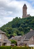 Wallace Monument in Stirling Scotland UK. The National Wallace Monument on the summit of Abbey Craig commemorating the 13th century Scottish hero Sir William Stock Photography