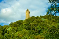 National Wallace Monument or Wallace Monument, a tower standin royalty free stock photography