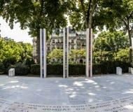 National War Memorial in Algeria, Morocco and Tunisia on the Qua Stock Image