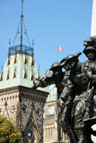 National War Memorial and Parliament of Canada Stock Images