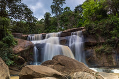 National waterfall   friendship Thailand - Laos Stock Photography