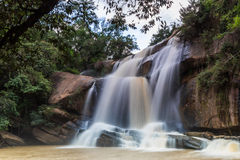 National waterfall   friendship Thailand - Laos Stock Images