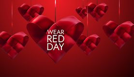 National wear red day. Stock Image