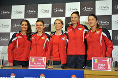 National Women Tennis Team of Romania during a press conference Stock Photography