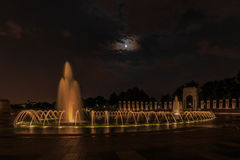 National World War II Memorial. Fountain in the evening, with Pacific Arch in the background Royalty Free Stock Photo