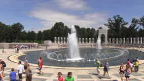 National World War II Memorial stock footage