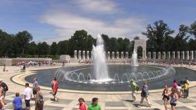 National World War II Memorial stock footage