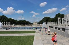 National World War II Memorial, Washington DC royalty free stock image