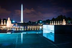 The National World War II Memorial and Washington Monument at ni Royalty Free Stock Image