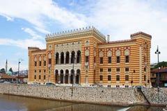 Nationalbibliothek in Sarajevo Lizenzfreies Stockfoto