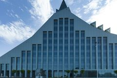 Nationalbibliothek von Lettland, Riga, 2016 stockfotografie