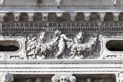 Nationalbibliothek von St- Mark` s Biblioteca Marciana, Fassade, Venedig, Italien Stockfoto