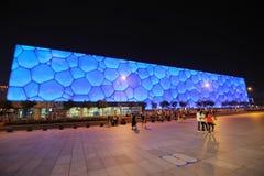 Nationale Aquatics Mitte Peking-- Wasser-Würfel Stockbild
