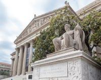 Nationale Archive, die Washington DC aufbauen stockbild