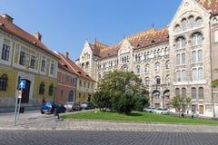 Nationale Archive von Ungarn Buda Budapest Ungarn Altes Schönheitsgebäude von Budapest stockfotografie
