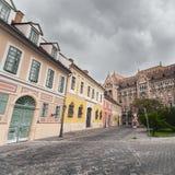 Nationale Archive von Ungarn in Budapest stockfotos