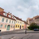 Nationale Archive von Ungarn in Budapest stockbilder