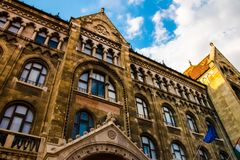 Nationale Archive von Ungarn in Budapest lizenzfreie stockbilder
