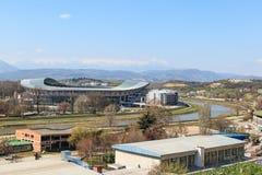 Nationale Arena Philip II von Mazedonien, Stadion von Skopje, Mazedonien Lizenzfreies Stockfoto