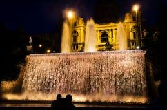 Nationale Art Museum in Barcelona nachts lizenzfreie stockbilder