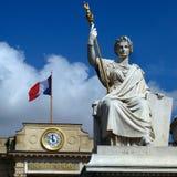 Nationale Assemblage - het Paleis van de Bourbon, Parijs, Frankrijk Stock Foto's