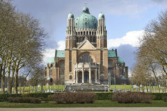 Nationale Basilika des heiligen Herzens in Brüssel Lizenzfreie Stockfotos