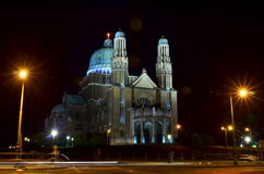 Nationale Basilika des heiligen Herzens in Koekelberg stockfotografie