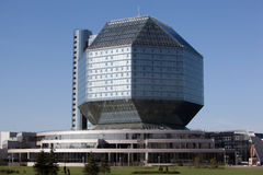 Nationale bibliotheek. Minsk, Wit-Rusland. Royalty-vrije Stock Foto