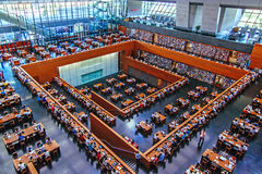 Nationale bibliotheek van China Stock Foto's