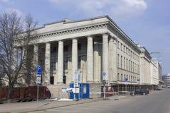 Nationale bibliotheekreconctruction Royalty-vrije Stock Foto's