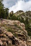Nationale bos rotsachtige de bergmeningen van San Isabel in Colorado Stock Afbeelding