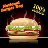 Nationale Burgertagesvektorillustration für Grußkarte, -plakat und -fahne Lizenzfreies Stockfoto