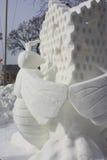 Nationale Concurrentie van het sneeuwbeeldhouwwerk - Meer Genève, WI Stock Afbeeldingen