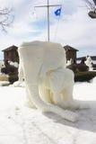 Nationale Concurrentie van het sneeuwbeeldhouwwerk - Meer Genève, WI Stock Fotografie