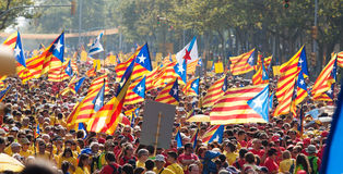 Nationale Dag van Catalonië Barcelona Royalty-vrije Stock Foto