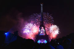 Nationale Dag van Frankrijk Stock Afbeeldingen